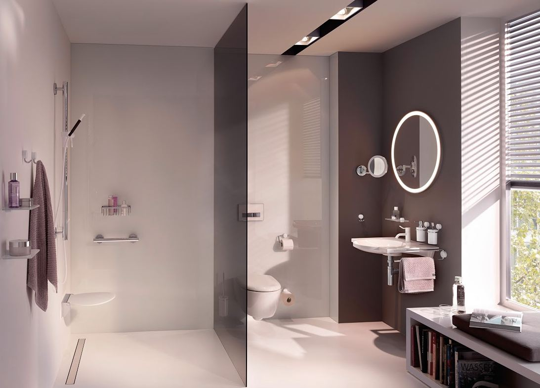 une salle de bains accessible concept bain. Black Bedroom Furniture Sets. Home Design Ideas