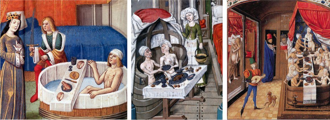 art du bain moyen age