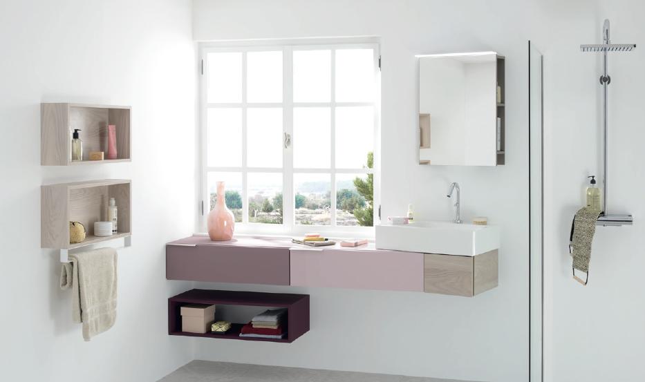 salle de bain rose sanijura