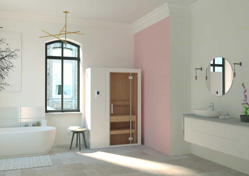 klafs sort une version xs du sauna r tractable s1 concept bain. Black Bedroom Furniture Sets. Home Design Ideas