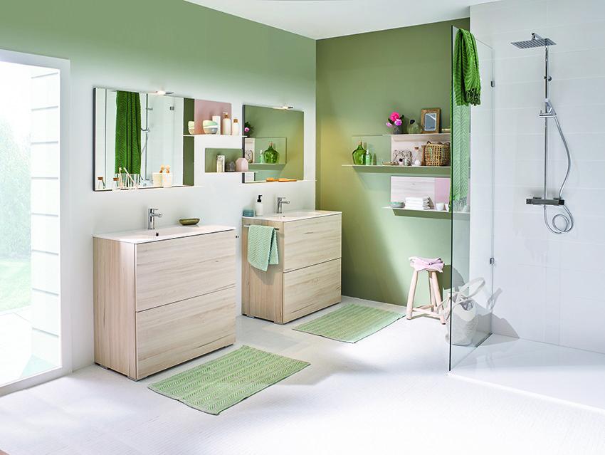 cuisinella le plein d astuces pour les petits espaces concept bain. Black Bedroom Furniture Sets. Home Design Ideas