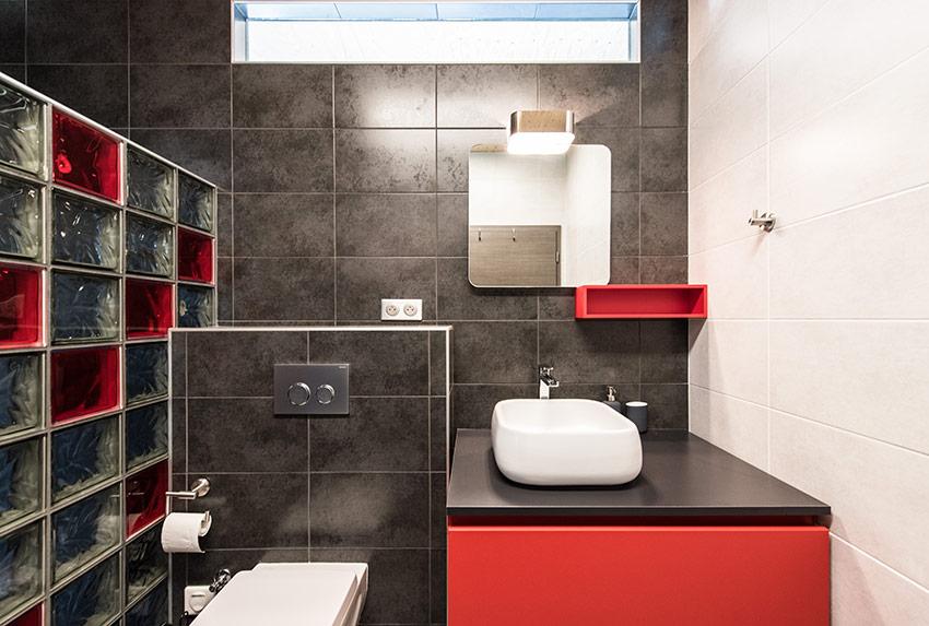 Une salle de bains haute en couleurs concept bain Carrelage salle de bain couleur