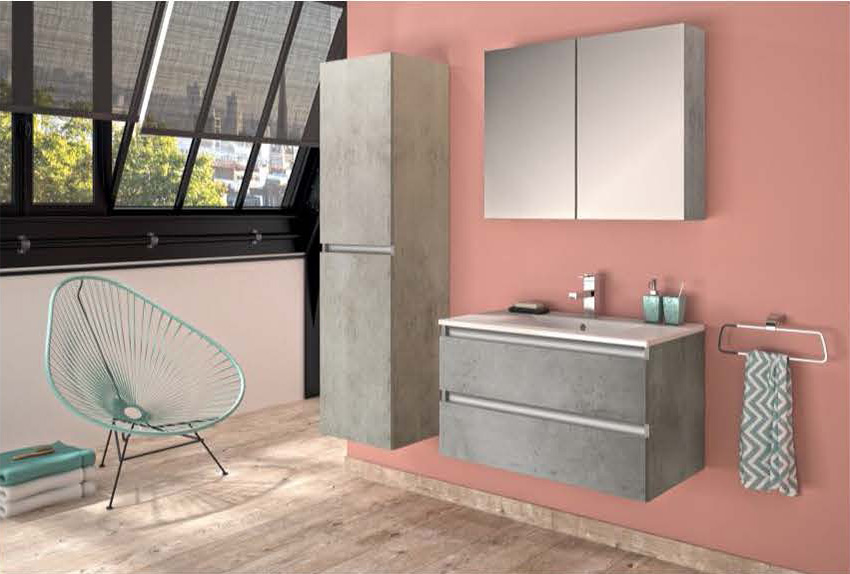 Pesaro d\'Allibert : une salle de bains à l\'esprit urbain