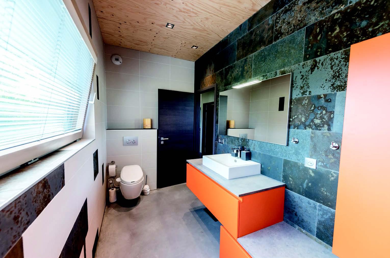 Salle De Bain En Longueur abcd'r : orange multivitaminé en salle de bains - concept bain